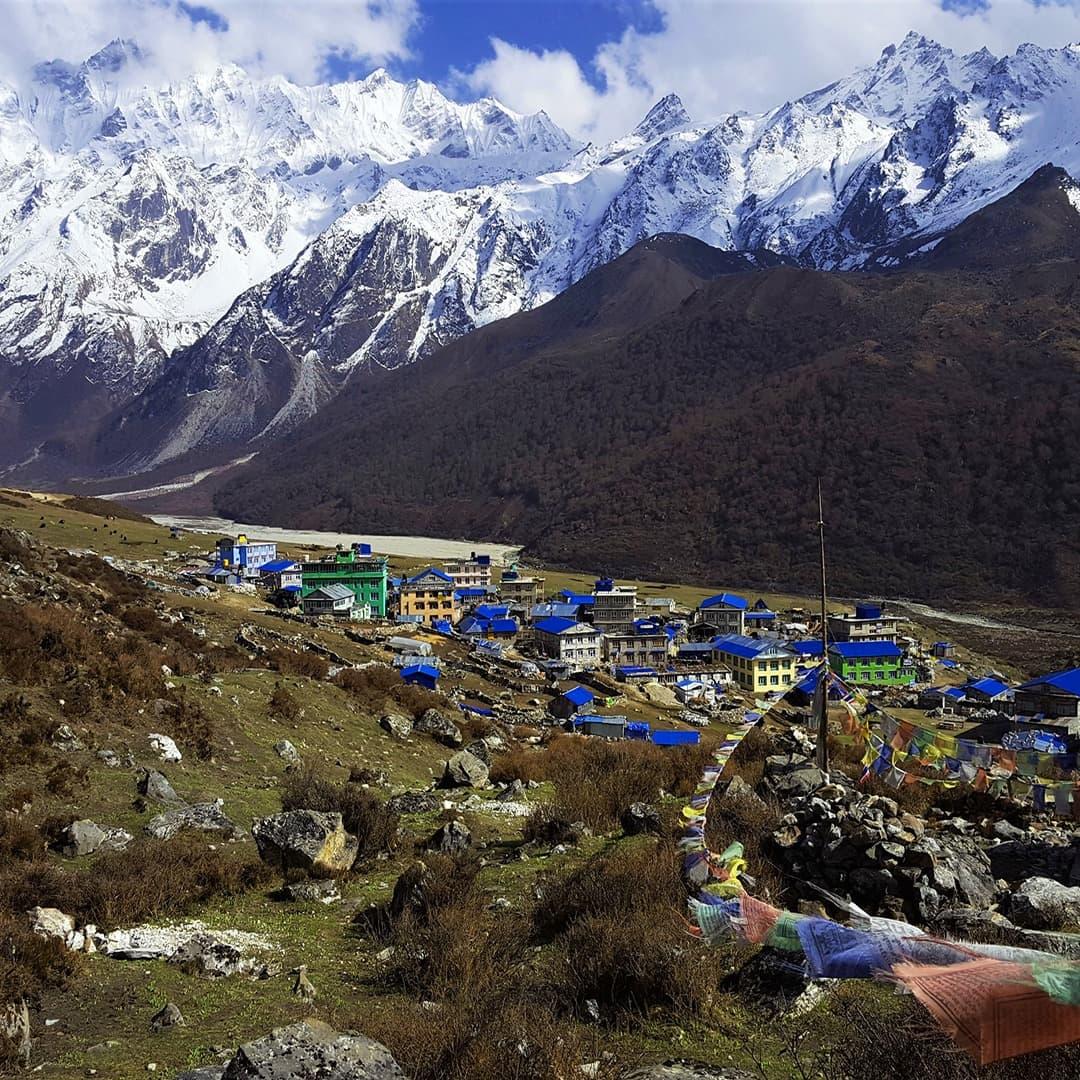 región langtang y helambu de trekking en nepal