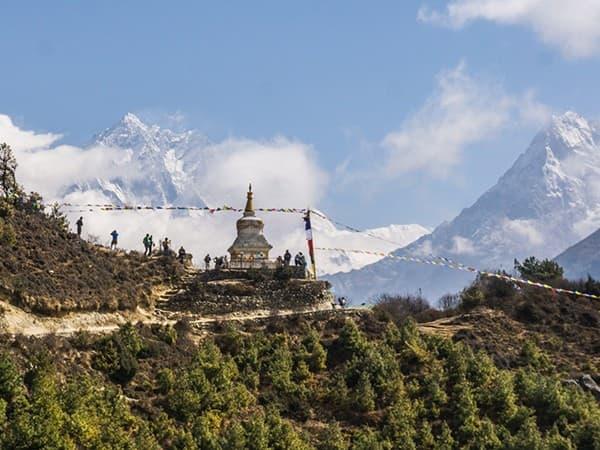 monasterio budisto, campo base everest