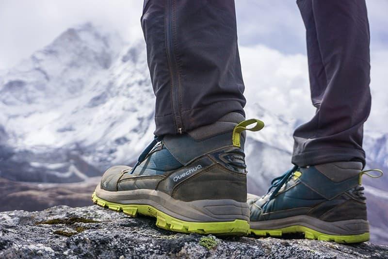 Calzado para trekking en Nepal