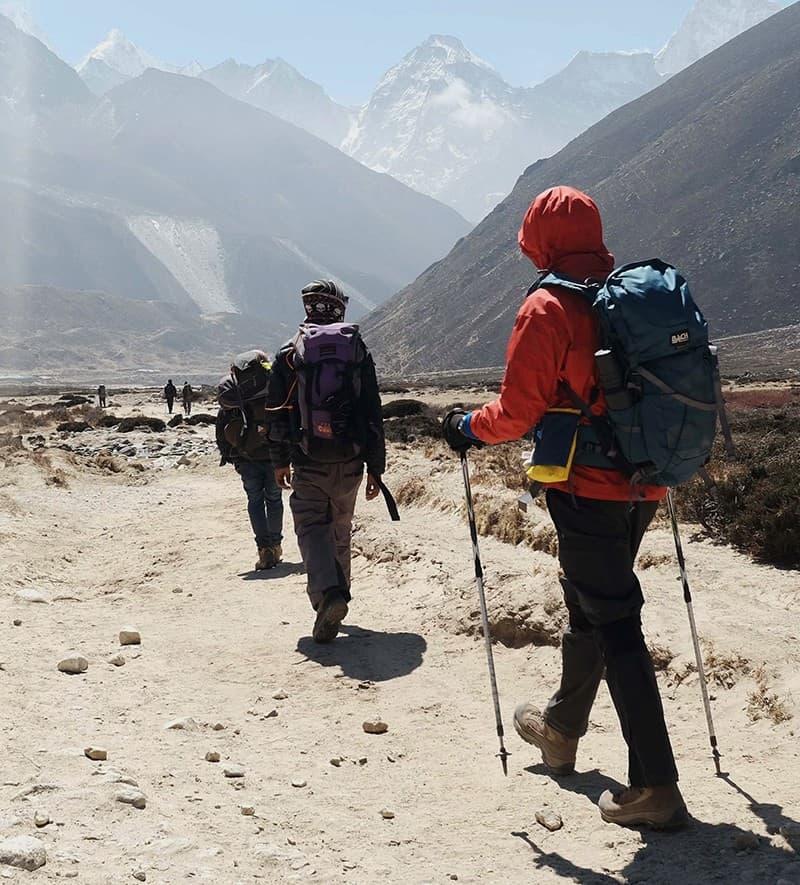 Modelo de mochila para trekking en nepal.