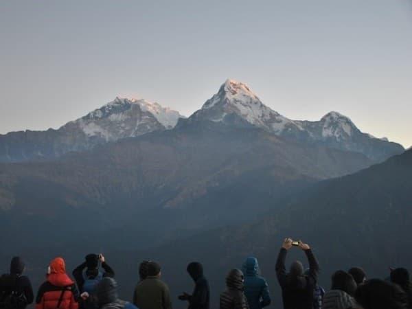 Vistas sobre Annapurnan desde el trekking Ghorepani Poon Hill