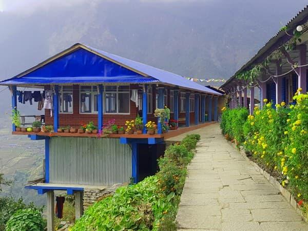 casa de te del trekking al campo base annapurna