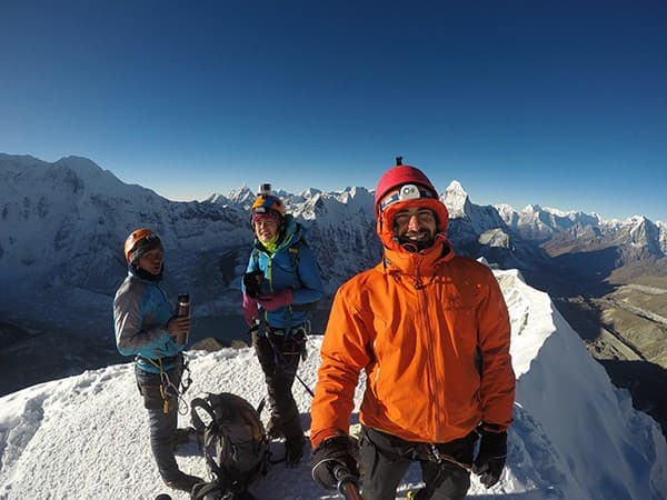 Cima de la island peak. ascension en Nepal