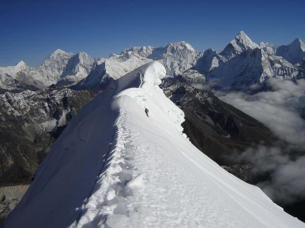 Vista al Lobuche Peak, Nepal, Himalaya