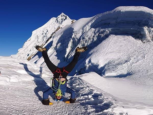 ascensión al Lobuche Peak, Nepal. Dia de cumbre.