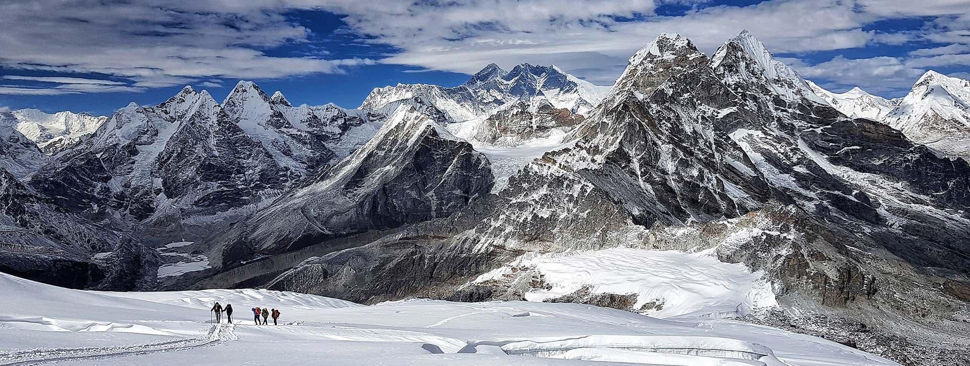 Ascension al mera, nepal