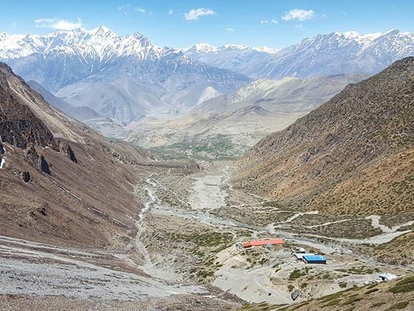 Vista sobre Muktinath, circuito annapurna