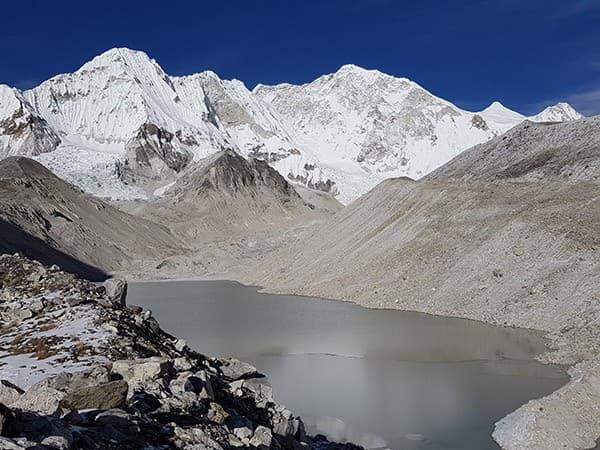 vista del Baruntse, himalaya