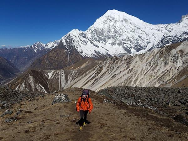 subiendo al yala peak langtang