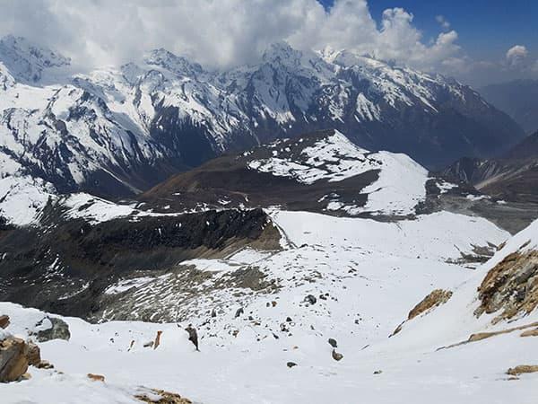 vista desde el pico yala langtang