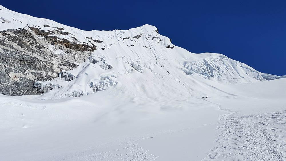 Vista de la cumbre del Island Peak