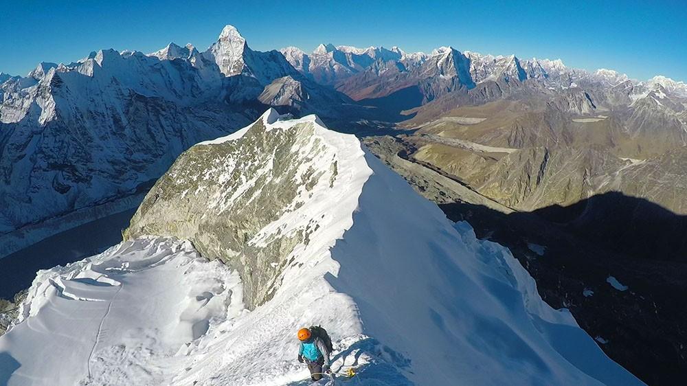 Vista desde la cima del Island Peak
